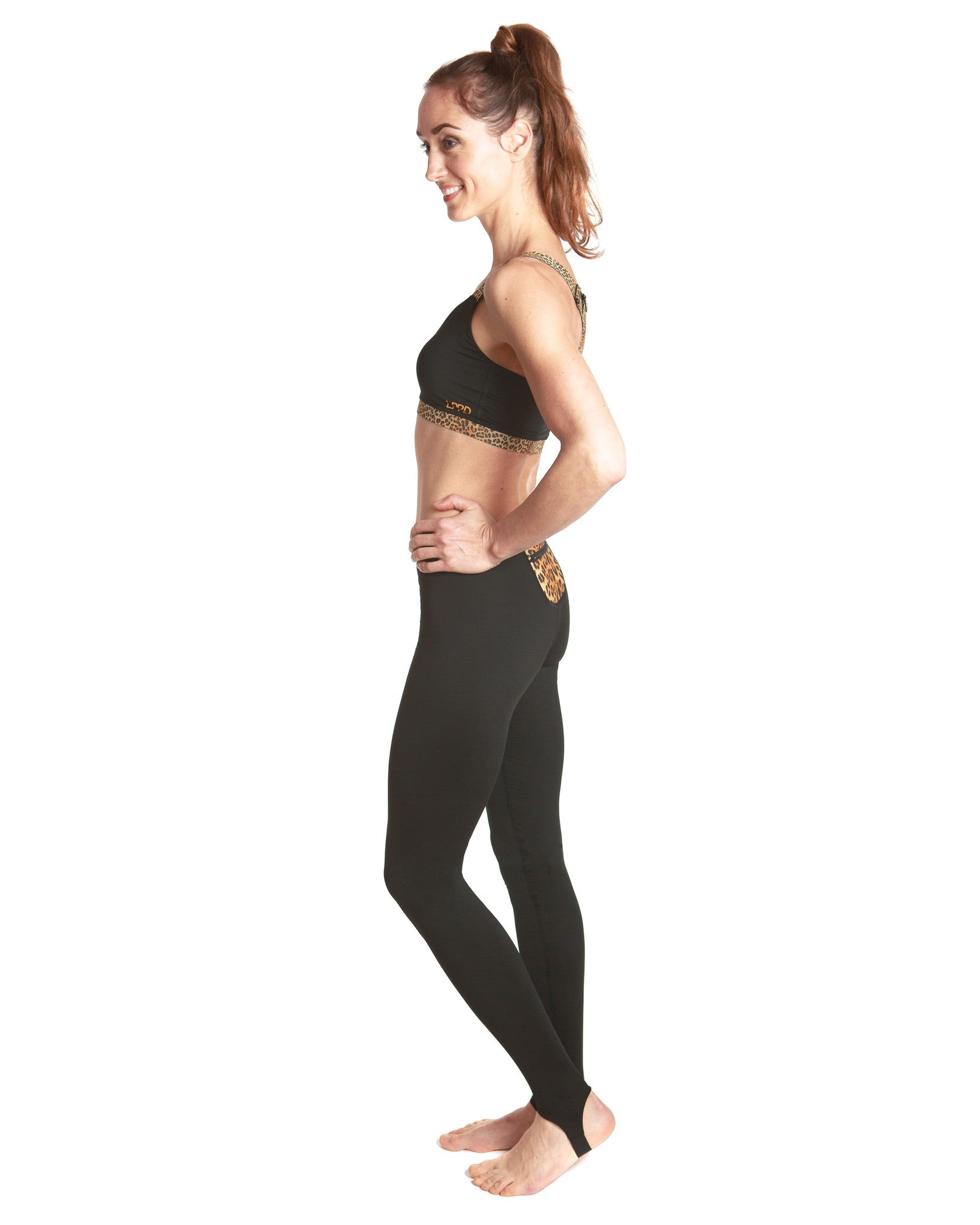 LPRD Black Leggings | Side View