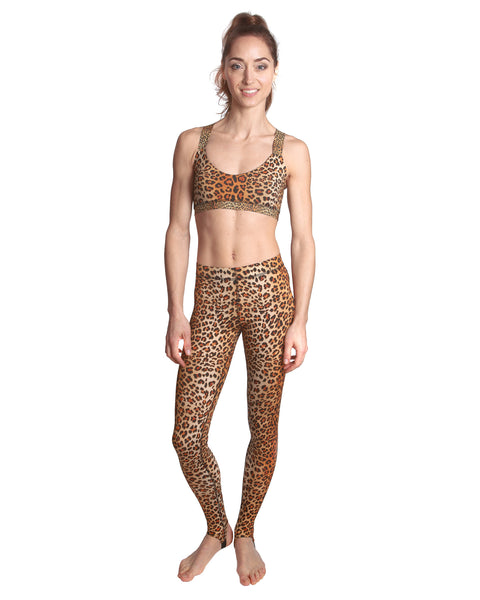 LPRD Signature Leopard Print Leggings | Front View