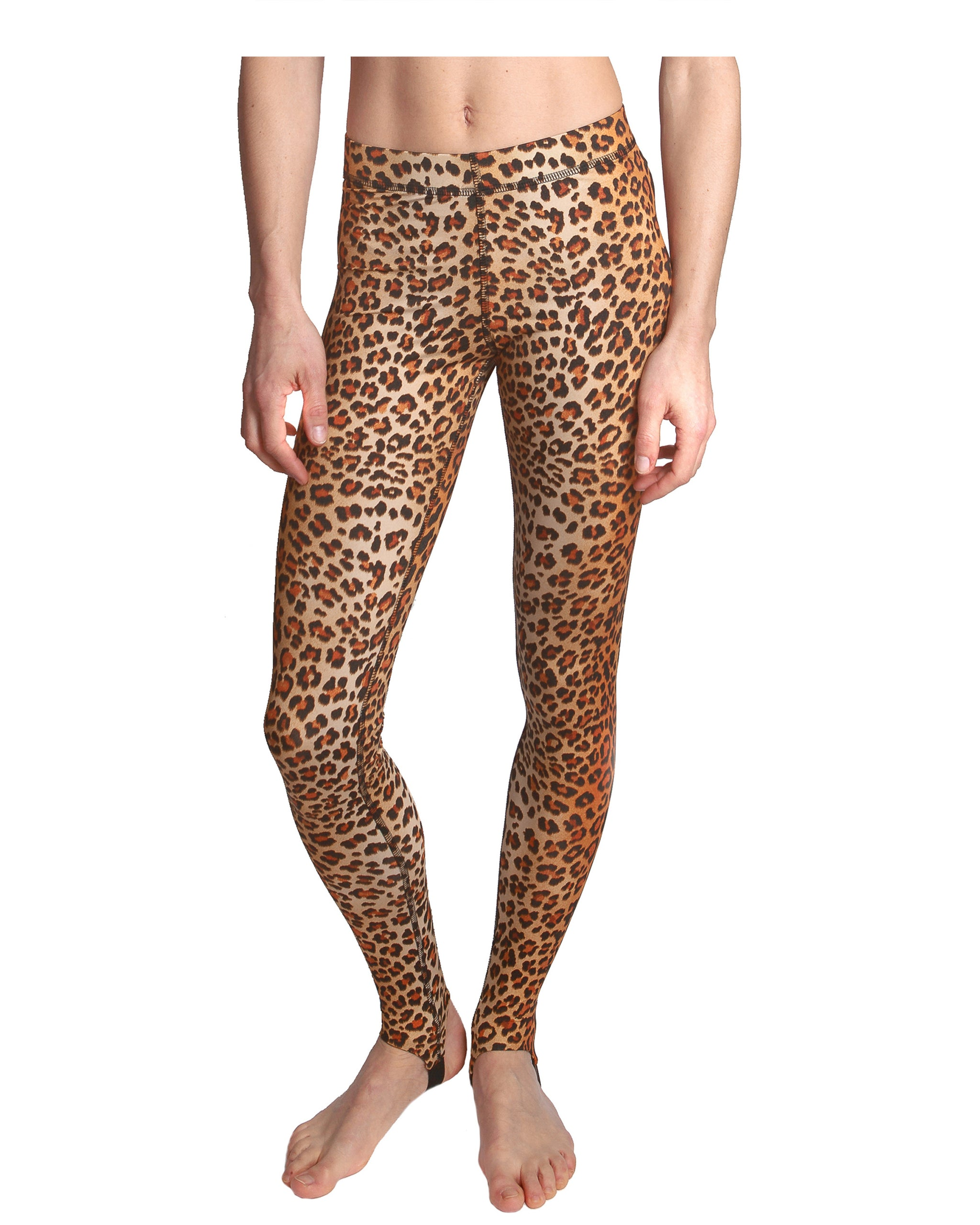 Leopard Print Gym Leggings Printed Tights For Workouts Like Yoga Running Cycling Or Swimming Premium Quality Italian Fabric By Lprd