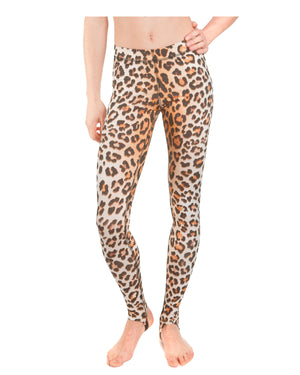 LPRD Leopard Large Print Leggings | Front View Close
