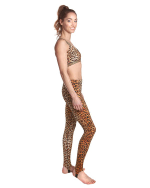 Leopard Print Gym Leggings which can also be used for running and cycling.