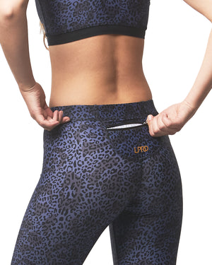 LPRD Midnight Leopard Print Leggings | Front View Close