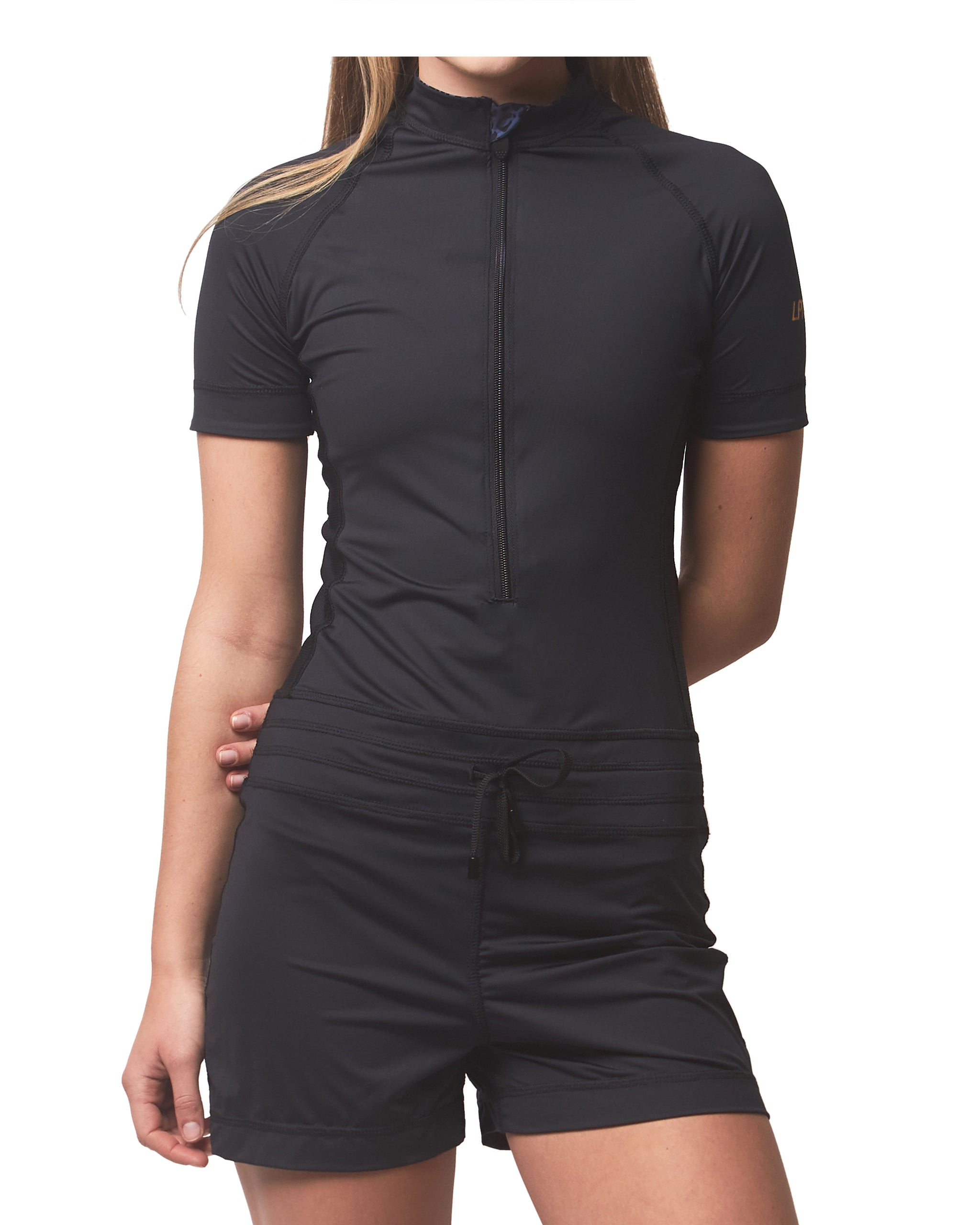 LPRD Onesie Jumpsuit Midnight Panel | Front View Close