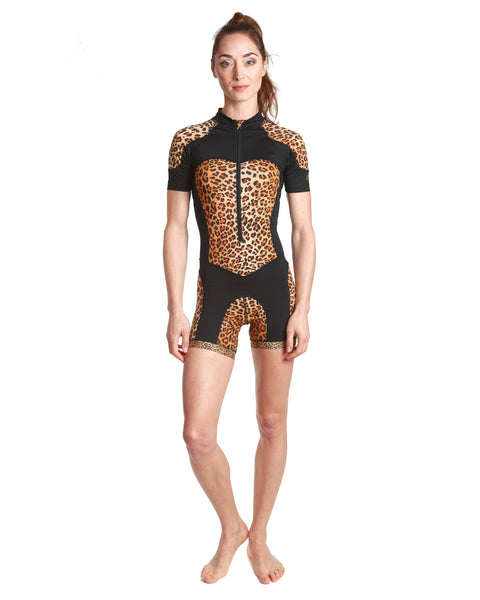 LPRD Leopard Centre Cycling Skinsuit | Front View