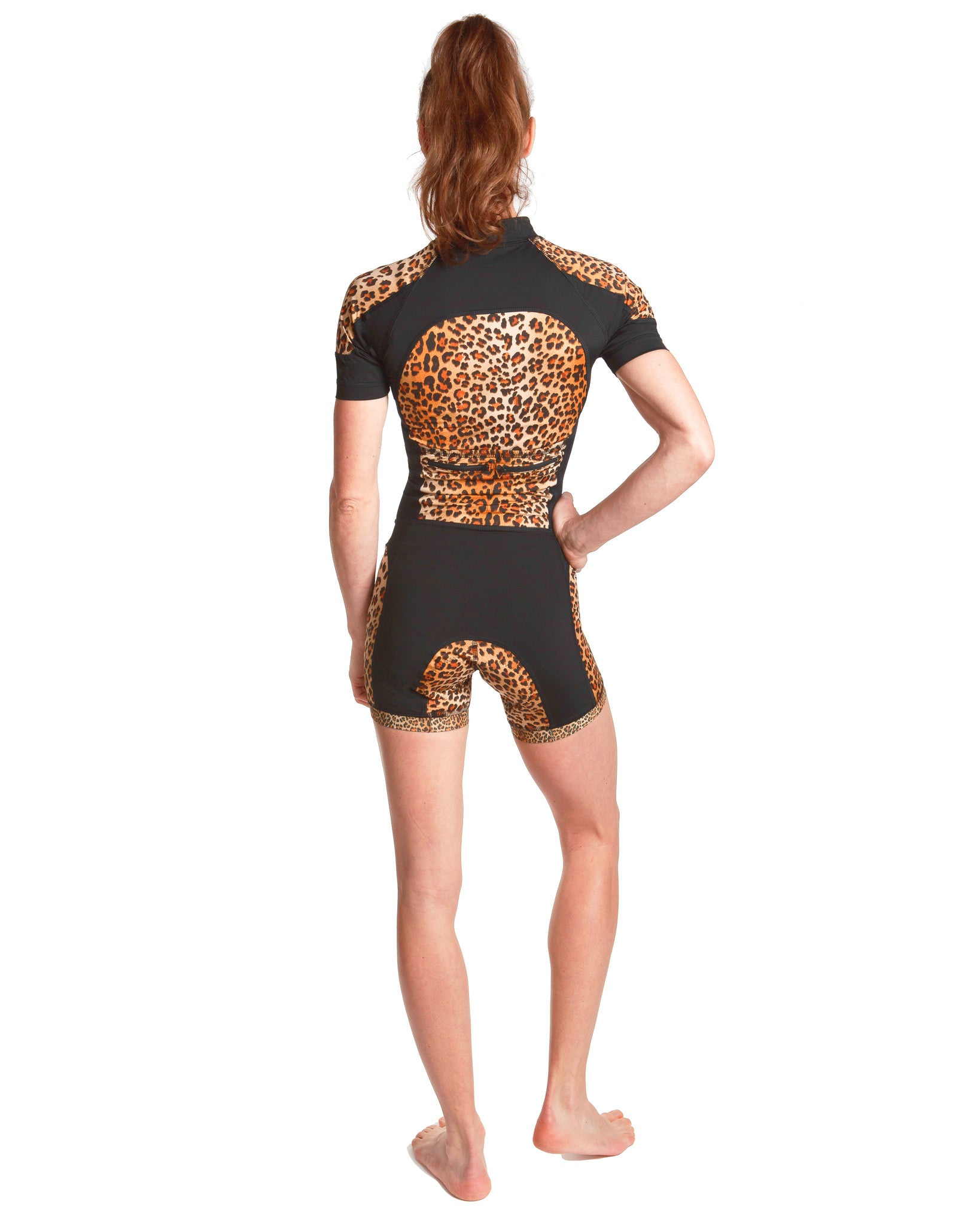 LPRD Leopard Centre Cycling Skinsuit | Back View