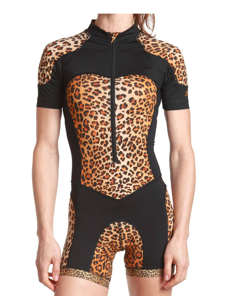 LPRD Leopard Centre Cycling Skinsuit | Front View Close