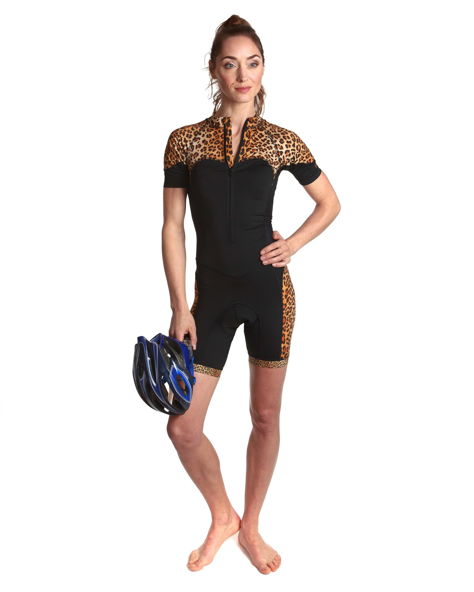 Skinsuit Leopard Panel Cycling | Front View