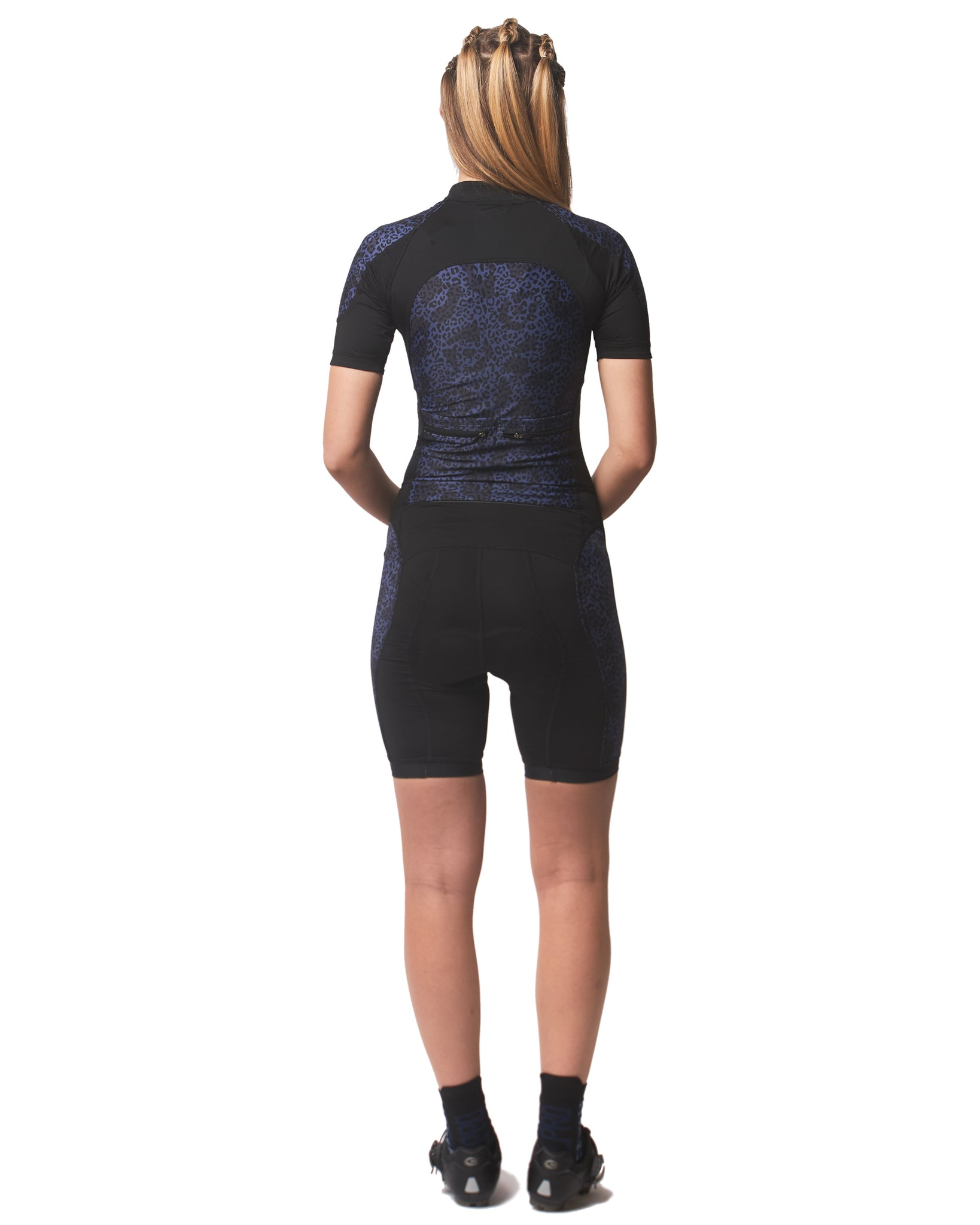 LPRD Midnight Leopard Centre Cycling Skinsuit | Back View
