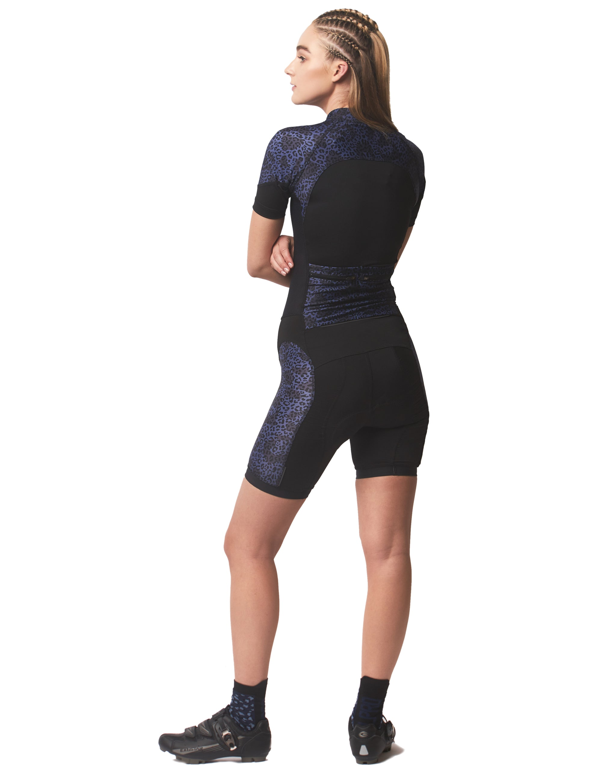 LPRD Midnight Leopard Panel Cycling Skinsuit | Side View