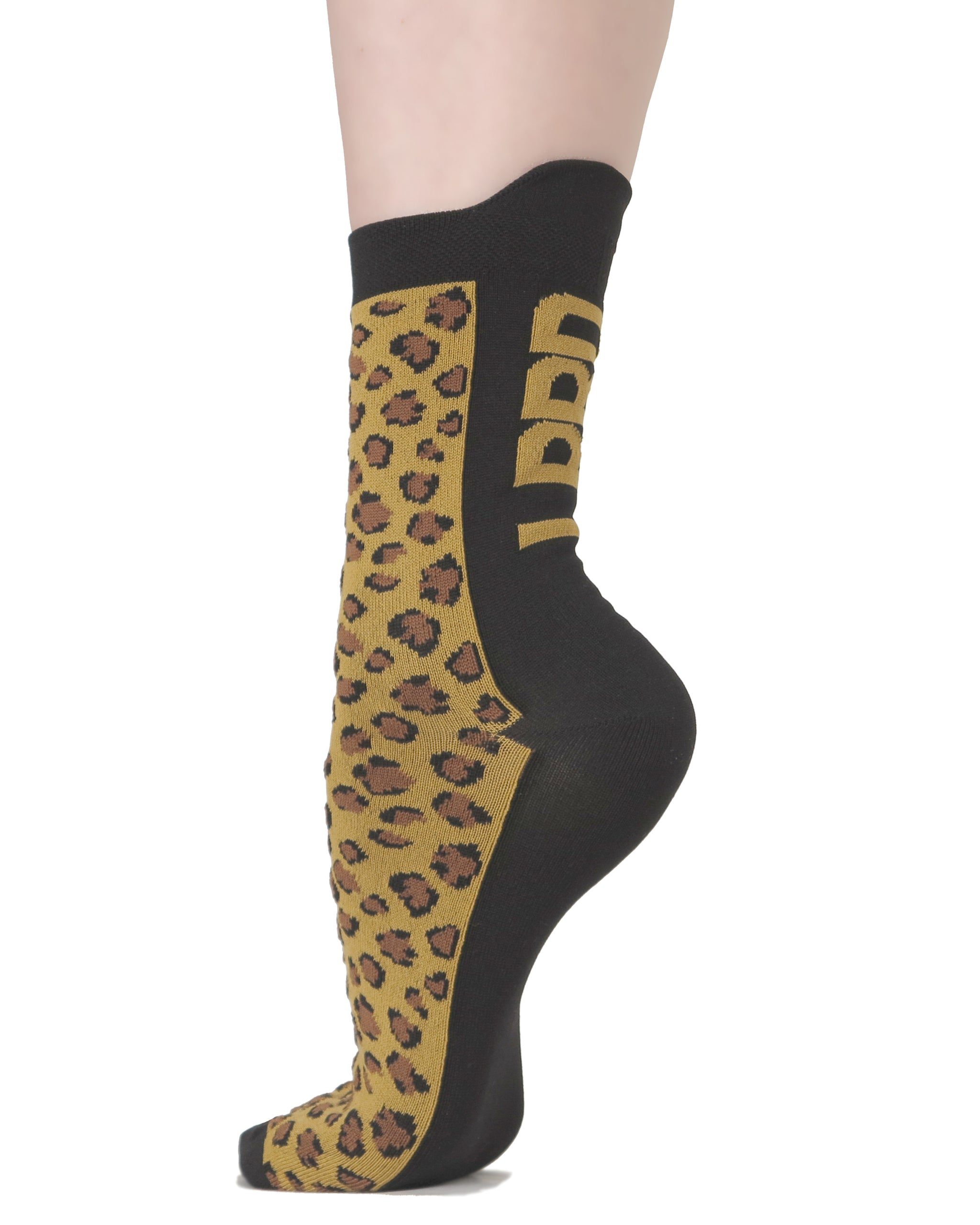 LPRD Signature Leopard Activewear Socks | Side View