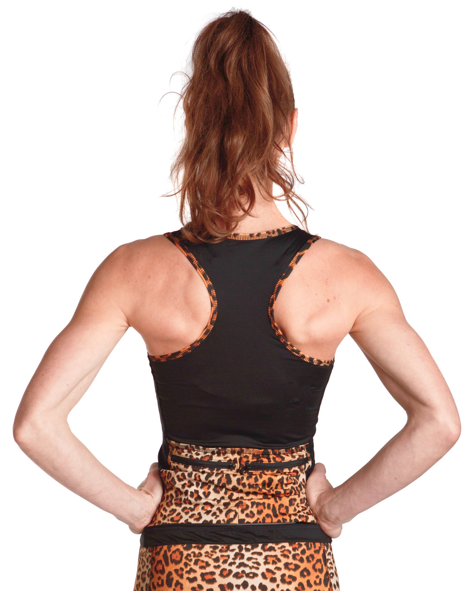 LPRD Black Tank Top | Close-up Racer Back View