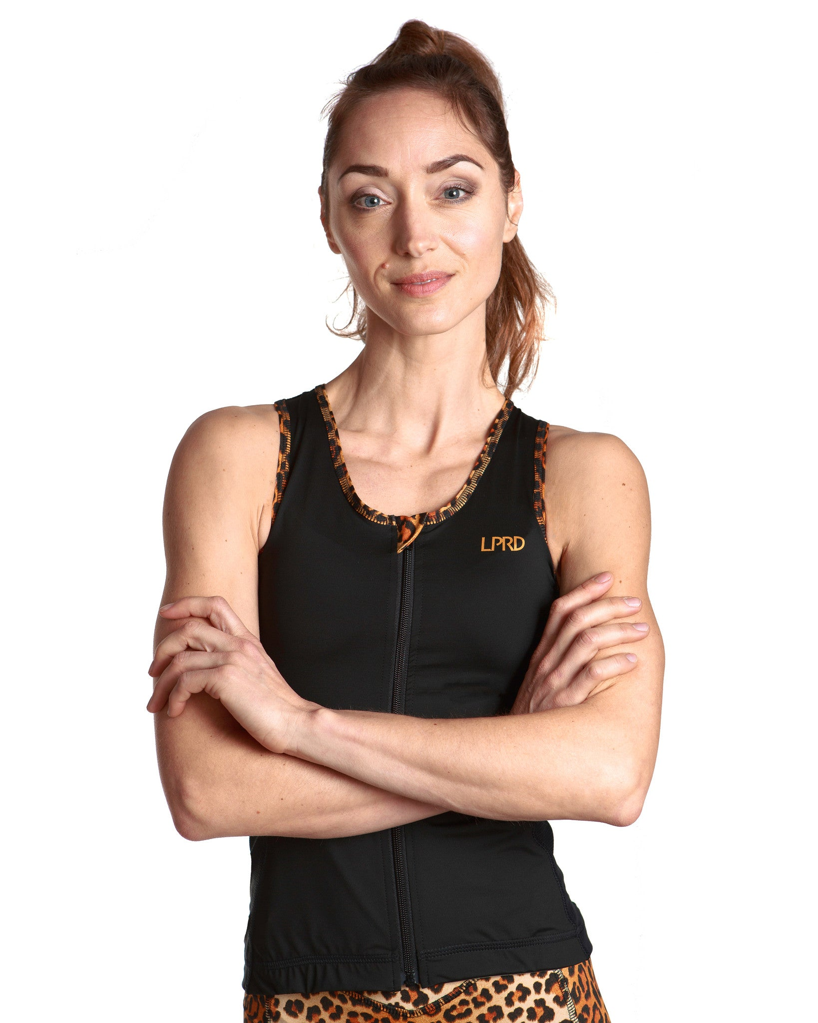 LPRD Black Tank Top | Front View Detail