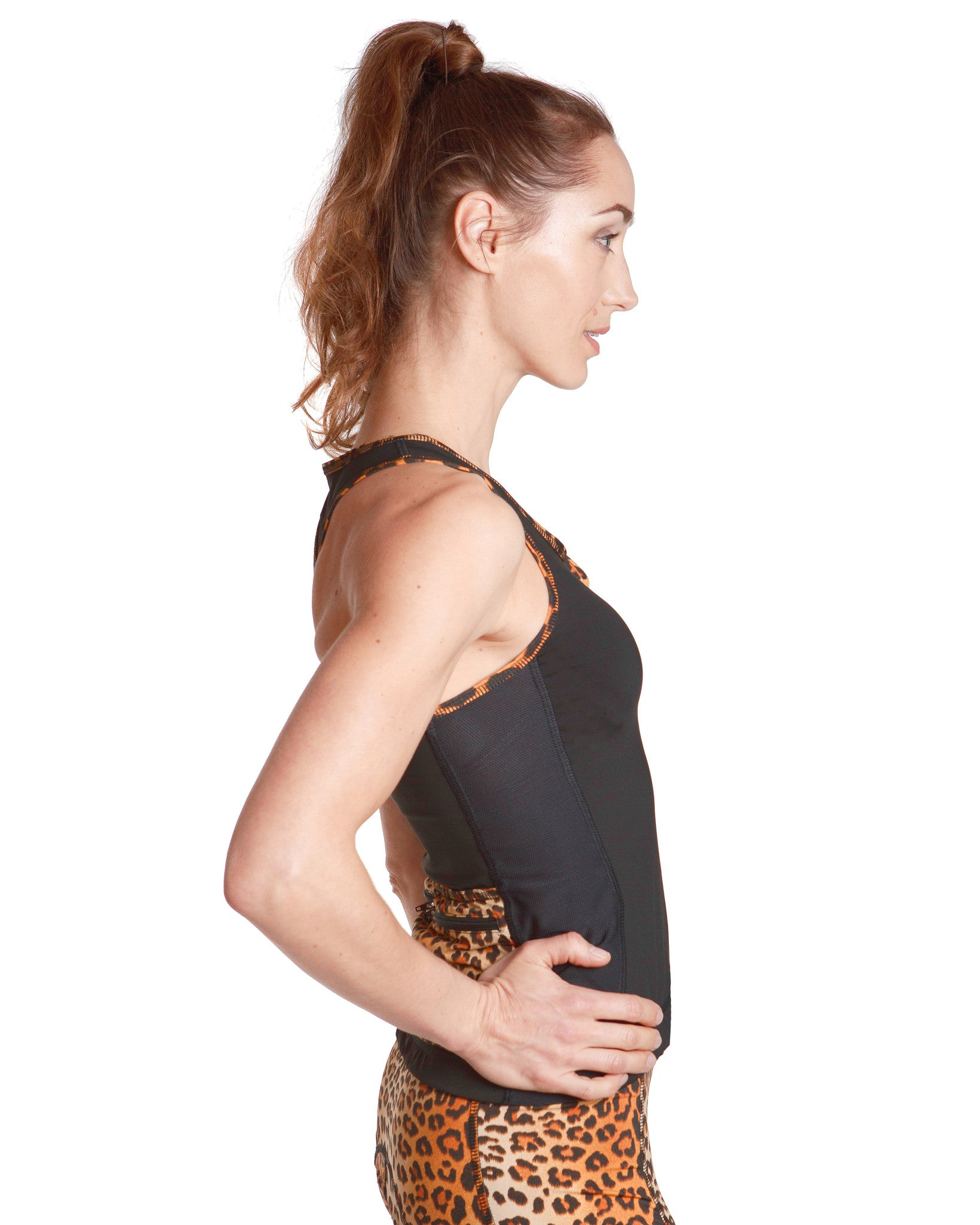 LPRD Black Tank Top | Side View Detail