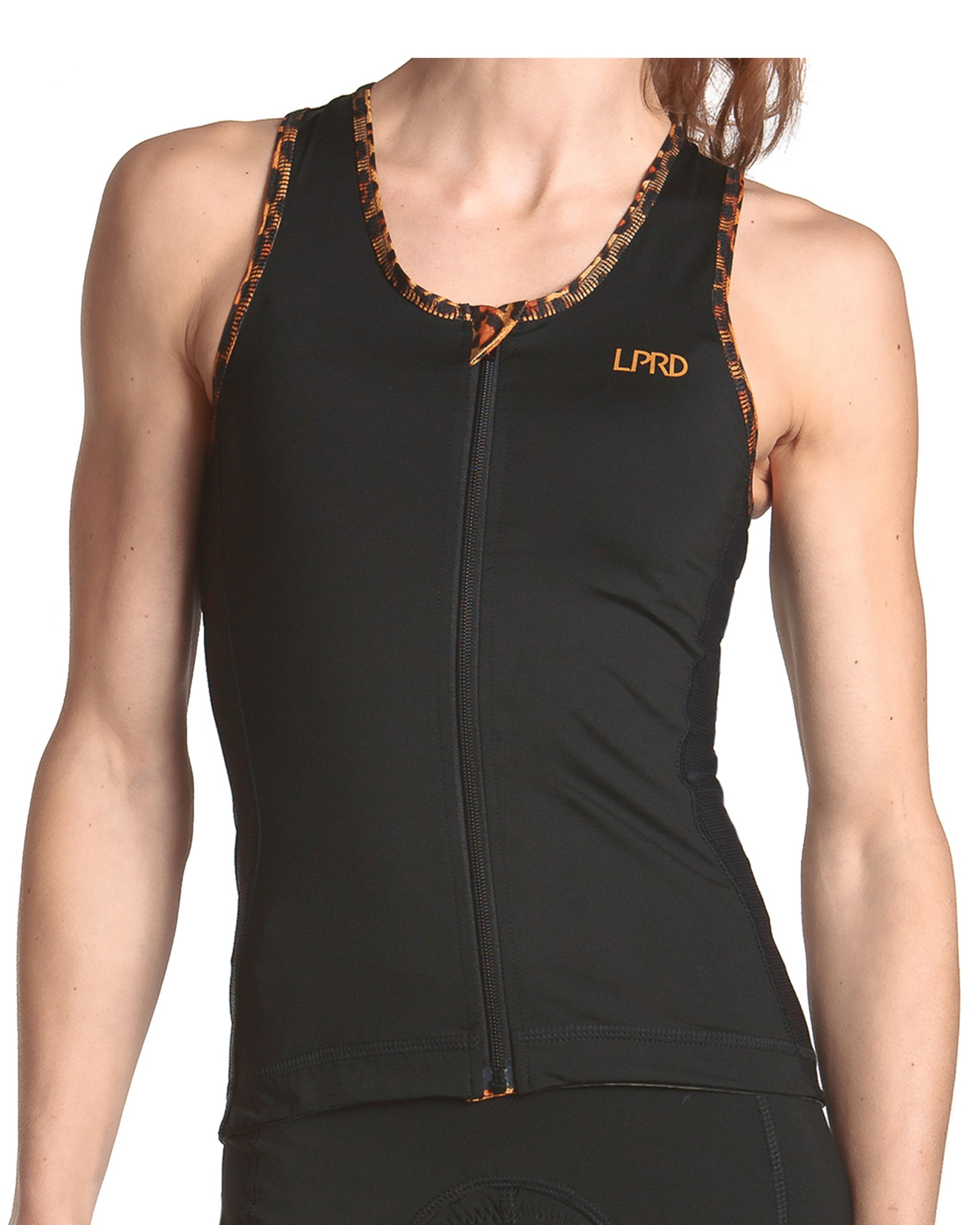 LPRD Black Tank Top | Front View Close