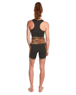 LPRD Black Tank Top Leopard Panel | Front View Close