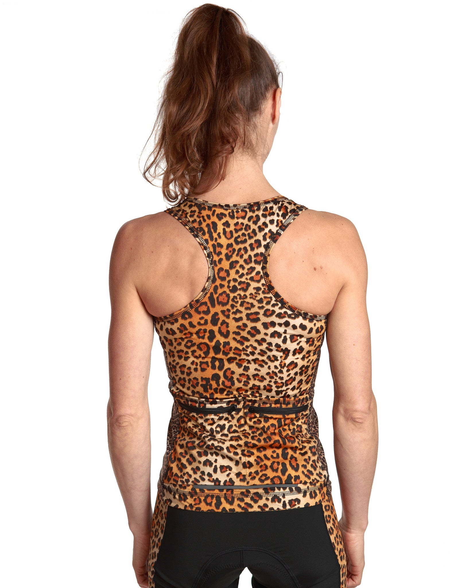 LPRD Leopard Tank Top | Back View Detail Racerback