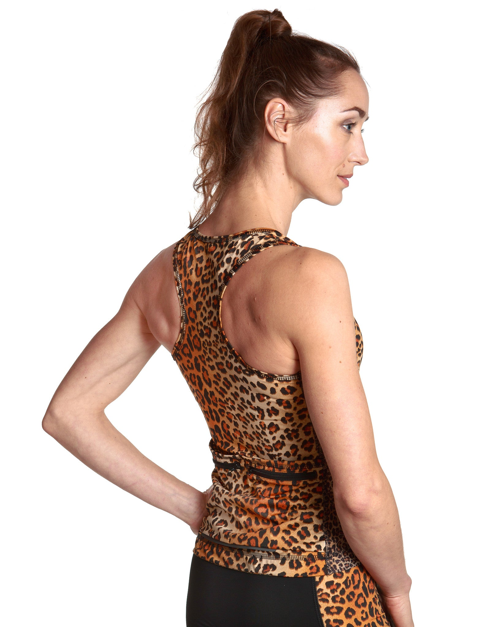 LPRD Leopard Tank Top | Side View Detail Racerback