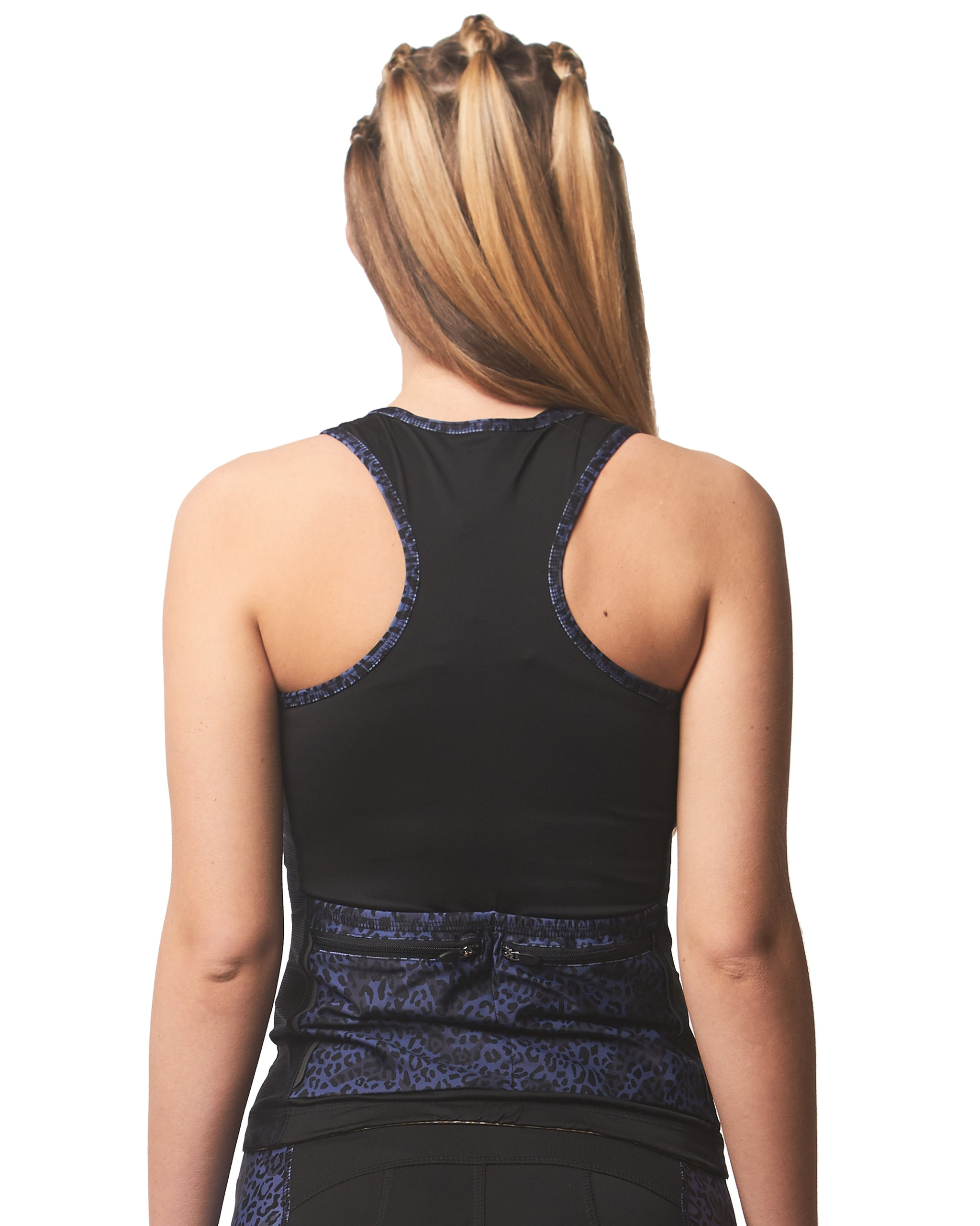 LPRD Tank Top Midnight Leopard Panel | Back View Close