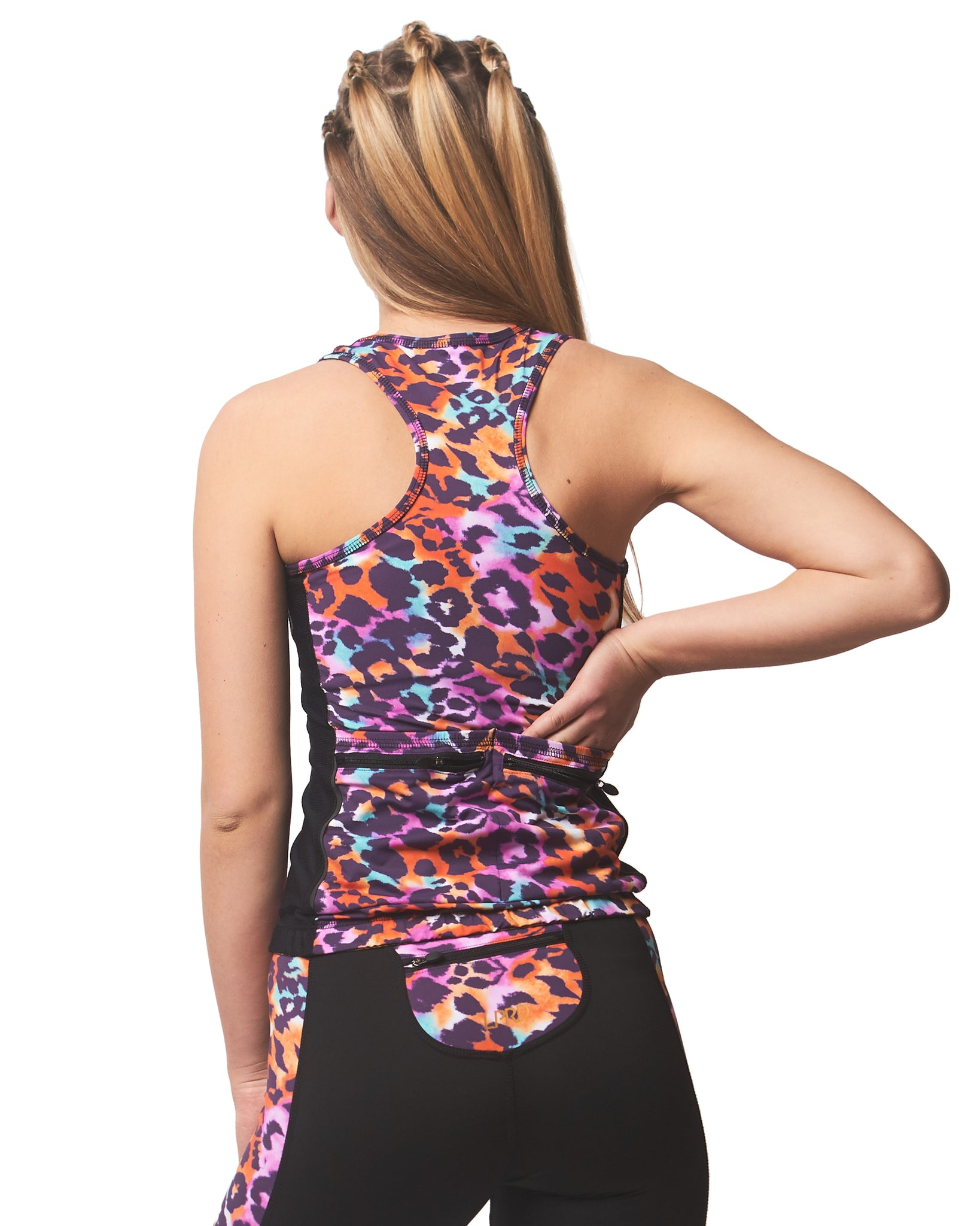 LPRD Tank Top Pink Leopard | Back View Close