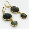 Large Labradorite Earrings - Margie Edwards Jewelry Designs