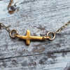 Small Gold Cross Necklace - Margie Edwards Jewelry Designs