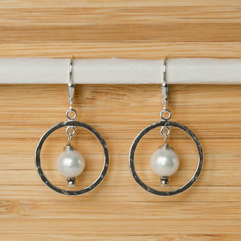 Large Pearl Earrings - Margie Edwards Jewelry Designs