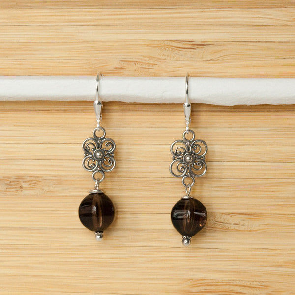 Bali Stone Earrings - Margie Edwards Jewelry Designs