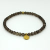 Smokey Quartz Lotus Flower Bracelet