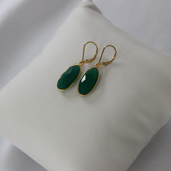 Green Garnet Earrings