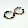 Tortoiseshell Small Hoop Earrings