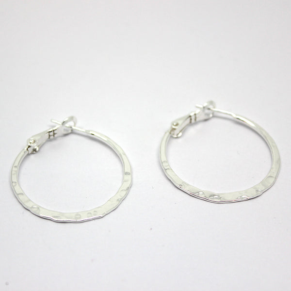 Round Hoop Earrings - Margie Edwards Jewelry Designs