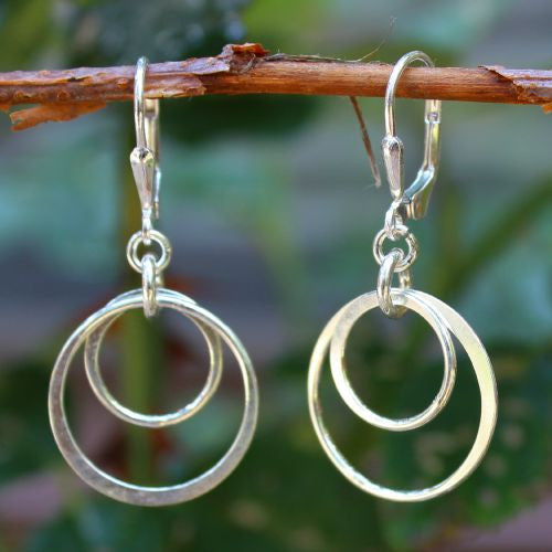 Double Hoop Earrings - Margie Edwards Jewelry Designs