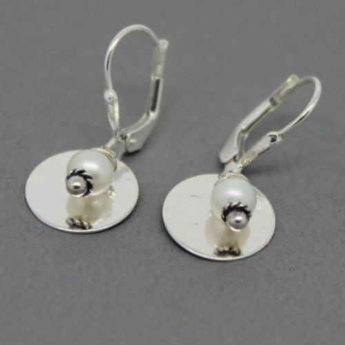 Disc with Bead Earrings - Margie Edwards Jewelry Designs