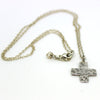Silver Hammered Cross