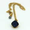 Blue Druzy Necklace