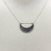Silver Hammered Moon Necklace