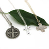 Silver Tiff Cross Necklace - Margie Edwards Jewelry Designs