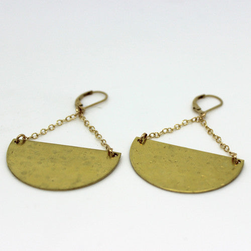Moon Shape Earrings - Margie Edwards Jewelry Designs
