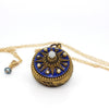 Vintage Coro Revival Pocket Watch Blue Enamel Locket