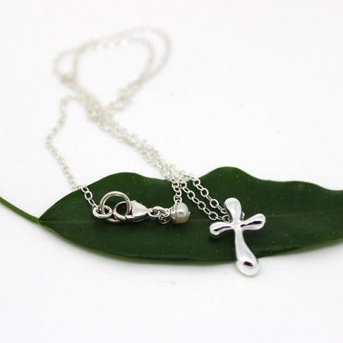 Silver Tiff Cross Necklace