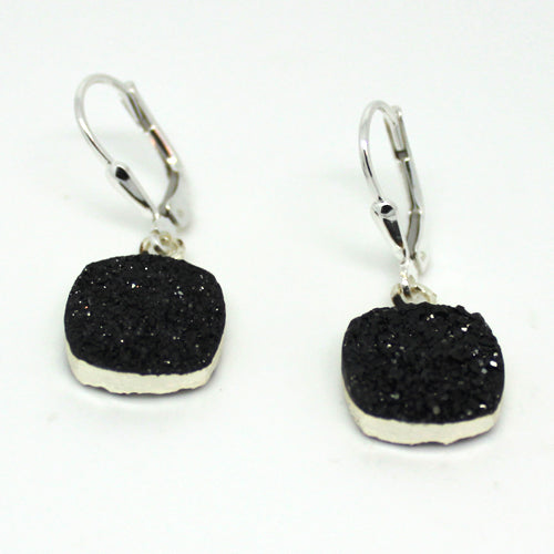 Silver Druzy Earrings - Margie Edwards Jewelry Designs