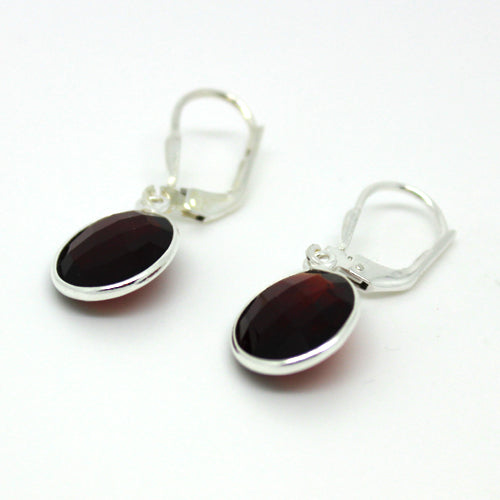 Silver Garnet Earrings - Margie Edwards Jewelry Designs