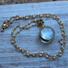 Mini Glass Locket Necklace - Margie Edwards Jewelry Designs