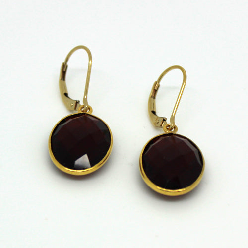 Garnet Earrings - Margie Edwards Jewelry Designs