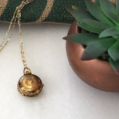 Gold Locket - Margie Edwards Jewelry Designs