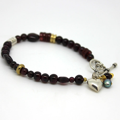 Garnet Bracelet - Margie Edwards Jewelry Designs