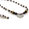 Garnet Heart Necklace - Margie Edwards Jewelry Designs