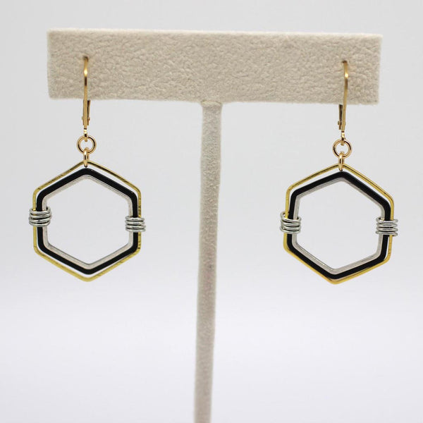Hexagon Earrings - Margie Edwards Jewelry Designs