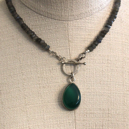 Tibetan Jade Labradorite Necklace