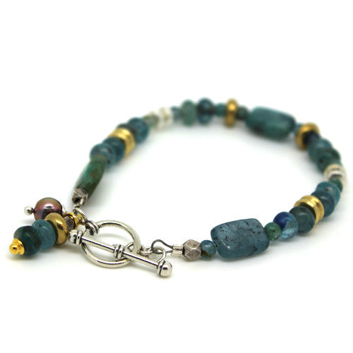 Kyanite Bracelet - Margie Edwards Jewelry Designs